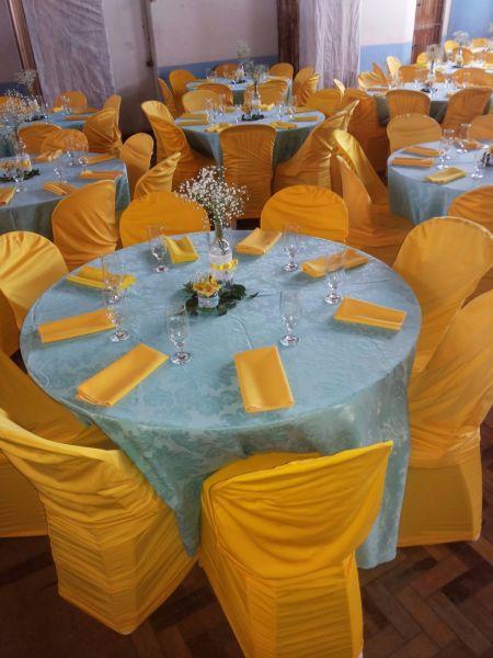 ec7899c1ad Decoração Azul Tiffany com a Amarelo - Cia da Festa Locações